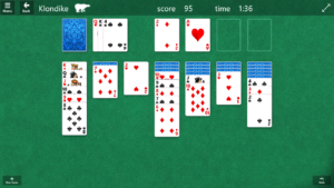 Computer game of Solitaire